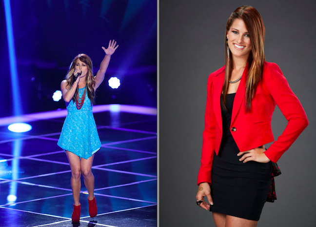 `The Voice`: Pictured at the `Blind Auditions` and backstage is Cassadee Pope. (photos by Tyler Golden and Paul Drinkwater/NBC)