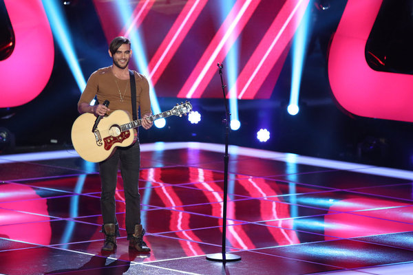`The Voice`: Diego Val is shown performing at the blind auditions. (photo by Tyler Golden/NBC)