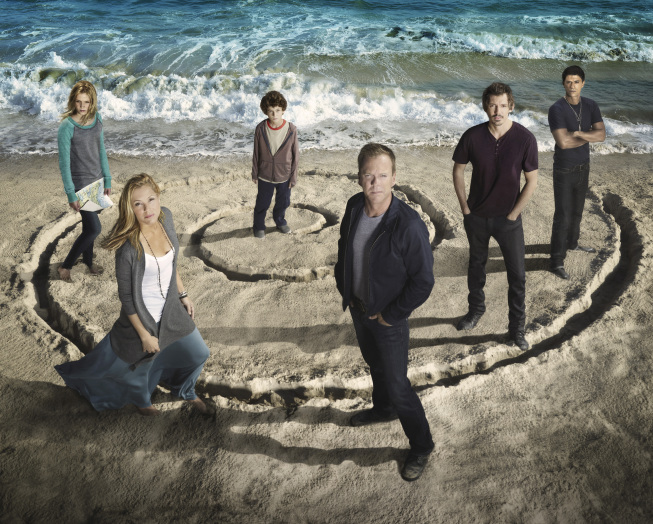 `Touch`: Pictured from left are Saxon Sharbino, Maria Bello, David Mazouz, Kiefer Sutherland, Lukas Haas and Said Taghmaoui. The second season of `Touch` premieres Friday, Feb. 8 (8 p.m.), on FOX. (photo ©2012 Fox Broadcasting Co./credit: Michael Muller/FOX)