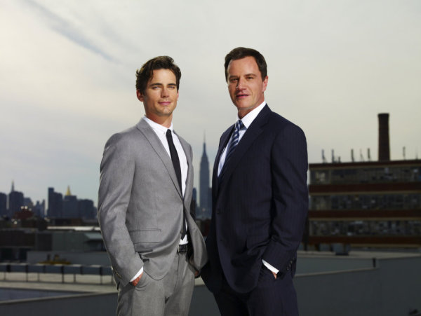 Matt Bomer is Neal Caffrey and Tim DeKay is Peter Burke on `White Collar.` (USA Network photo by Nigel Parry)
