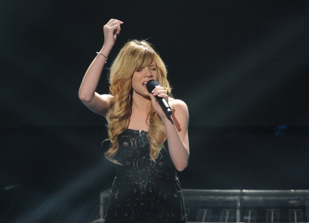 Drew Ryniewicz performs Thursday on `The X Factor` on Fox. (photo by Ray Mickshaw/FOX)