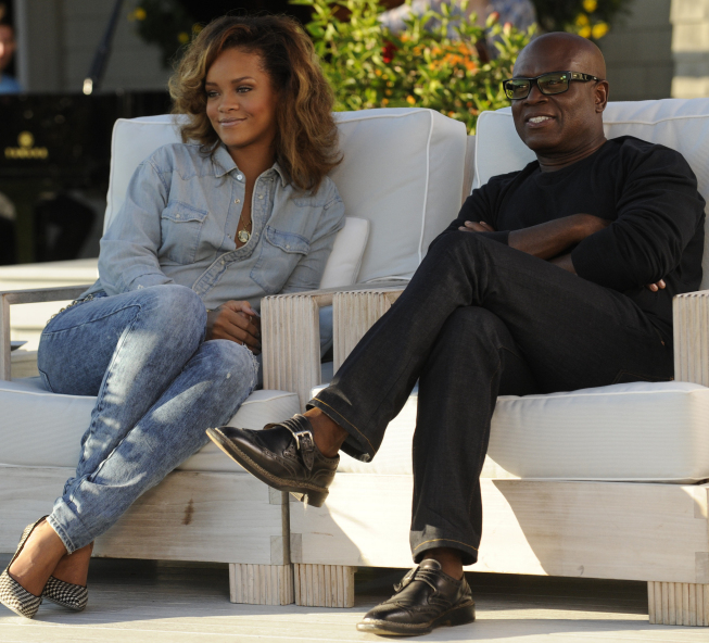 Music superstar Rihanna helped judge L.A. Reid select four semifinalists on `The X Factor` on FOX. (photo credit: Jeffrey Niera/FOX)