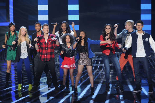 InTENsity sings in front of the judges on `The X Factor.` (photo credit: Ray Mickshaw/FOX)