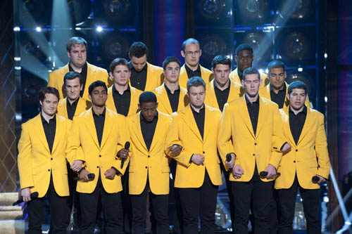 The YellowJackets perform on `The Sing-Off.` (photos by Lewis Jacobs, NBC).