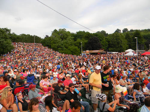 A record-breaking crowd watched ZZ Top at Artpark this week. (photo by Terry Duffy)