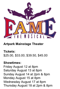 """Fame"" schedule (Artpark graphic)"