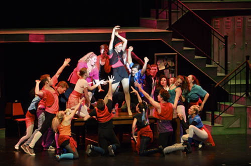 "Carmen (Lucy Ann Werner) leads the charge of ""Fame"" at the New York City High School for the Performing Arts. ""Fame - The Musical"" is on stage this weekend and next at Artpark. (photo by Matt Buckley/MMBArts Photography and Artpark)"