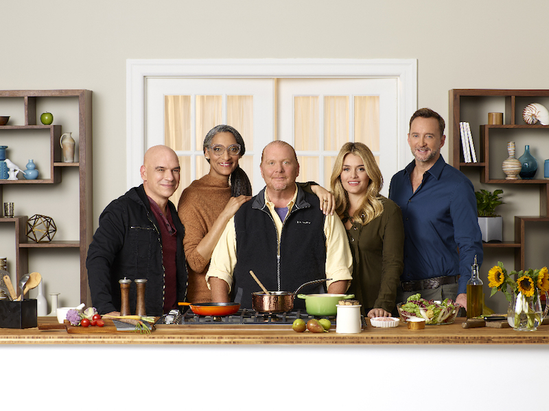 `The Chew`: ABC's `The Chew` features celebrity chefs Michael Symon, Carla Hall and Mario Batali, health and wellness enthusiast Daphne Oz and entertaining expert Clinton Kelly. (ABC photo by Craig Sjodin)