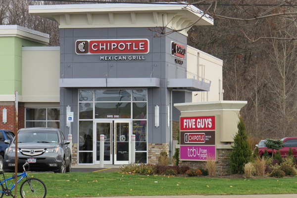 Pictured is the new Chipotle Mexican Grill location on Military Road.