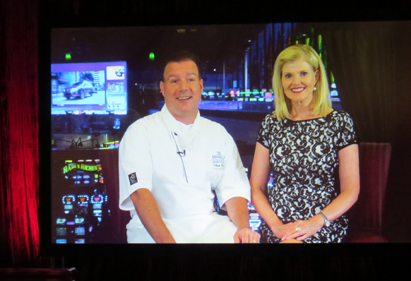 `Come Dine with Me - WNY!` hosts Oliver Wolf and Jan Ferington on the show's set inside Seneca Niagara Resort & Casino.