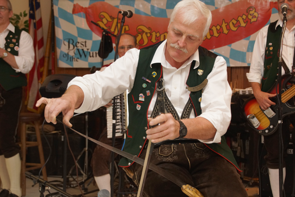The Frankfurters' unique Bavarian-Swiss music includes a special solo on the singing saw. Hear this and more at Niagara History Center's benefit Oktoberfest Oct. 10.