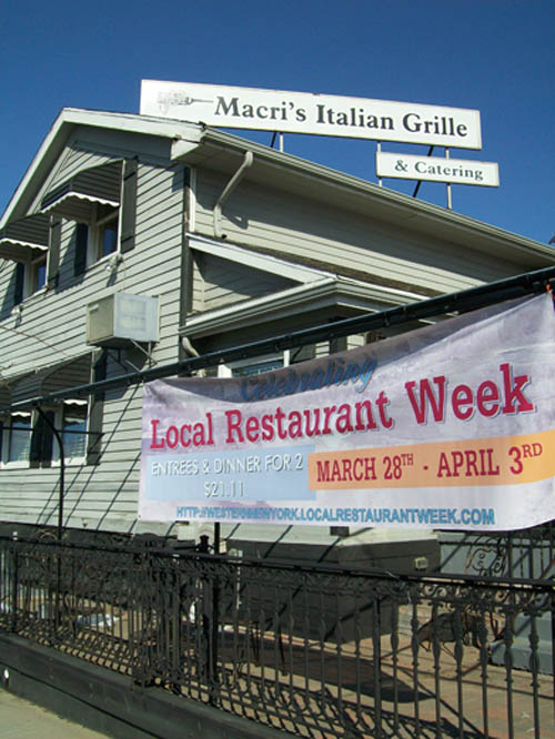 Macri's Italian Grille in the Village of Lewiston.