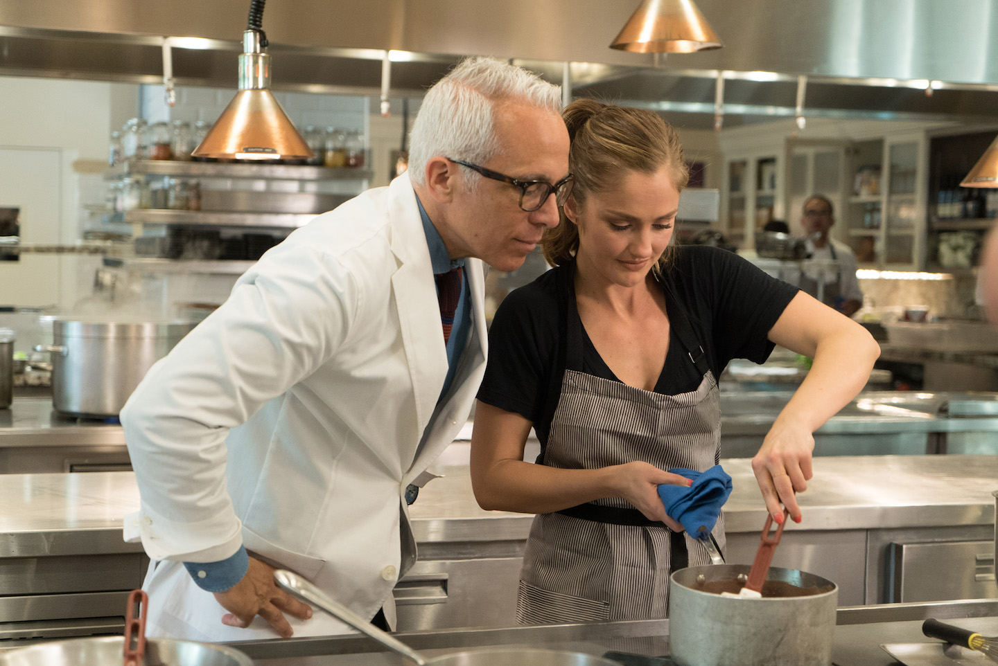 Geoffrey Zakarian and Minka Kelly on Food Network's `Star Plates.` (Food Network photo)