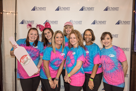 The Summit's booth area featured a costume/photo contest, raffles and cupcakes at The Summit Federal Credit Union Wine and Chocolate Festival in Syracuse.