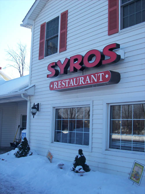 Syros Family Restaurant.