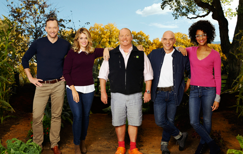 ABC's `The Chew` features entertaining expert Clinton Kelly, health and wellness enthusiast Daphne Oz and celebrity chefs Mario Batali, Michael Symon and Carla Hall. (ABC photo by Craig Sjodin)