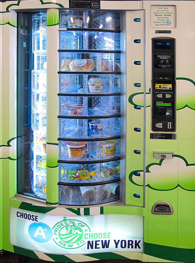 The University at Buffalo installed four new Pride of New York vending machines, each stocked with healthy products made or produced in New York state.