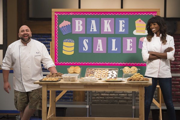 Hosts Duff Goldman and Lorraine Pascale on Food Network's `Worst Bakers in America.` (Food Network photo)