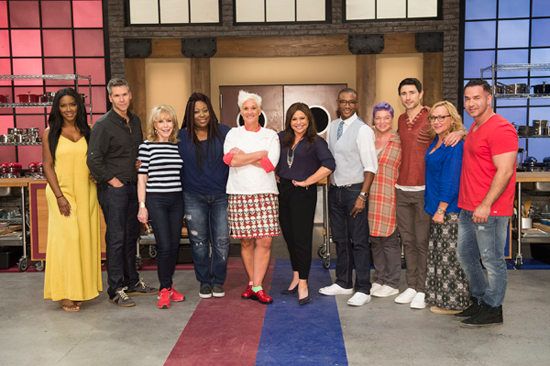 Mentors Anne Burrell and Rachael Ray with the contestants of Food Network's `Worst Cooks in America: Celebrity Edition.` (Food Network photo)