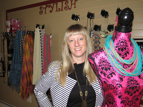 Jamie Symmonds of Angel to Apple Clothing Boutique.
