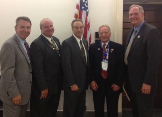 From left: Dan Locche, BNAR public affairs director; Louis Vinci, BNAR president/national delegate; Congressman Chris Collins; Federal Political Coordinator Michael Johnson; and National Director Gary Kenline