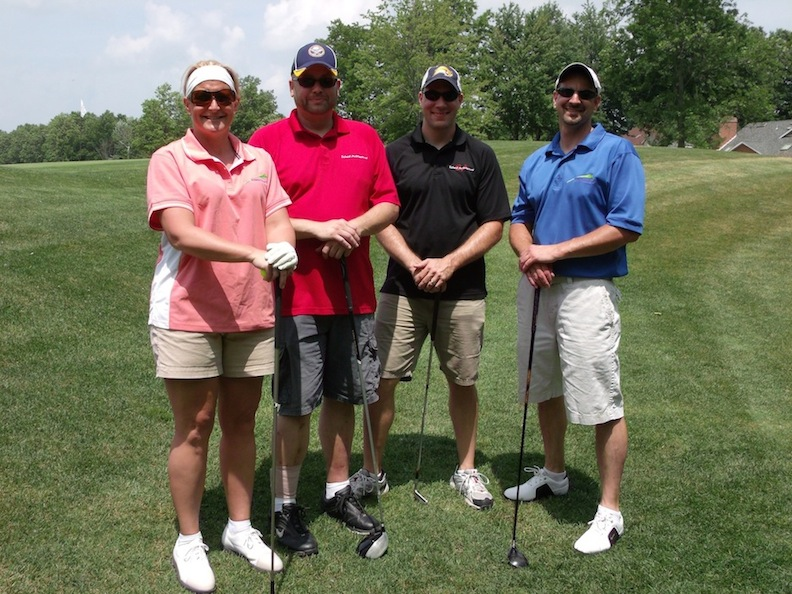 Pictured is the Advanced Design Group Professional Engineering P.C. foursome from the 2012 Chamber Golf Classic.
