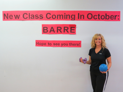 Personal trainer Karen Tweedie-Oakley invites readers to try the new barre class at ChrisFit.
