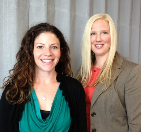 Pictured are this year's conference co-chairs Kate Cumbo (left) and Tanya Miller (right).
