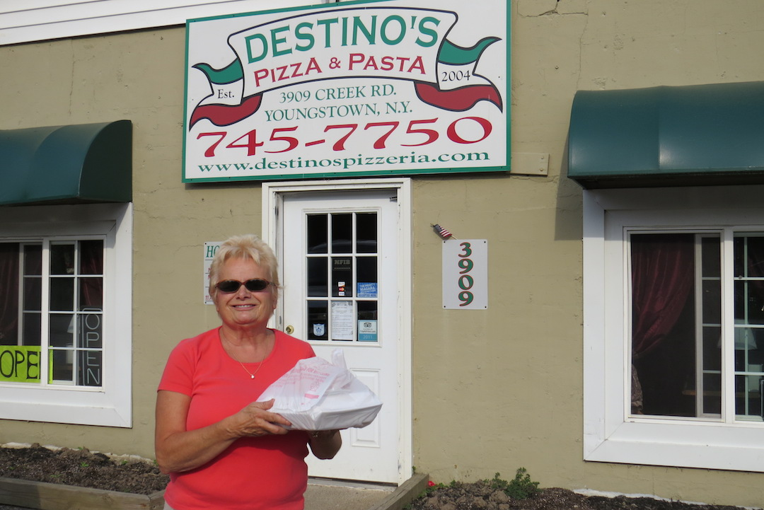 Porter resident Deborah Lutts took advantage of the anniversary special Saturday.