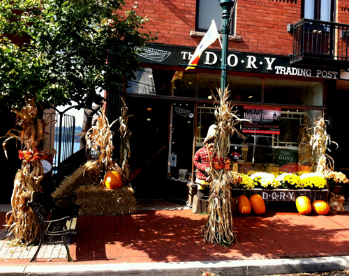 Fall splendor graces Main Street outside The Dory Trading Post in Youngstown, organizer of a new home decorating contest that's open to residents in the river region.