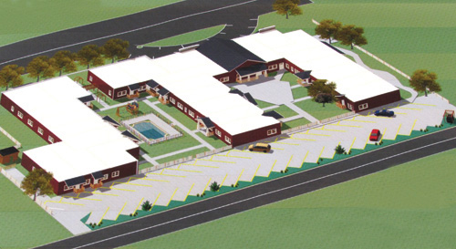 Residents were shown this Fairchild development sketch Monday. (Image by Lewiston's Giusiana Architects & Engineer)