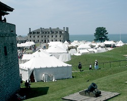 `French and Indian War Encampment` at Old Fort Niagara.