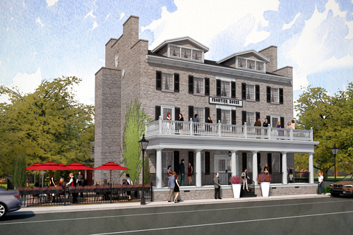 An artist's rendering of the proposed renovation of the historic Frontier House in Lewiston.