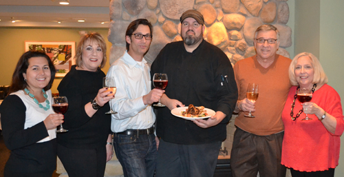 Pictured, from left: Melissa Morinello, Lori Presti, Jon DiBernardo and Matt Ott of Water Street Landing, Dennis Tosetto and Margy Toohey. Not present: Lucy Muto, Janet Brown and Peter John Certo.