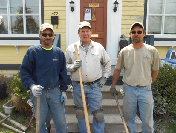 Pictured, from left, are Roy Morrison, Ken Lilly (Beau Enterprises owner) and John Newell.