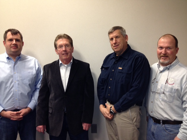 Pictured from left are Mark Davis, Bob Ciszewski, Ron Winkley and Bill Conrad.