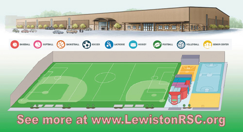 Pictured is an artist's rendering of the proposed Lewiston Civic Center.