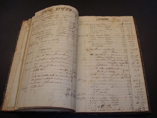 Pictured is one of the Porter ledgers.