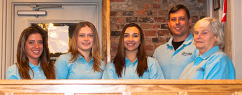 Pictured is the Riverview Fitness staff. From left: Cara, Ashlee, Olivia, Greg (co-manager) and Pat (co-manager).