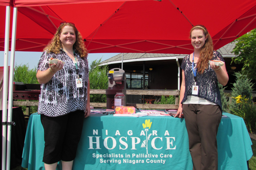 Niagara Hospice Alliance Special Events & Volunteer Coordinator Mandy Raff, left, and intern Elizabeth Wenneman