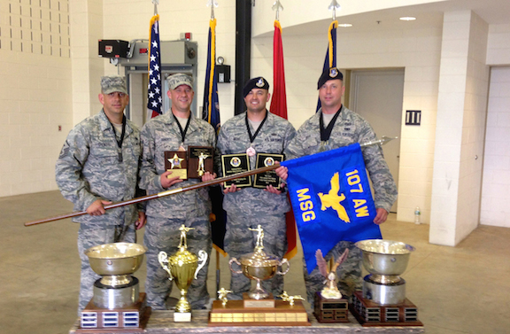 Pictured are the 2013 TAG Match winners. From left: 1st Sgt. Randal Schenefiel, Tech. Sgt. Christopher Doherty, Tech. Sgt. Ryan Mang and Master Sgt. Edward Stefik.