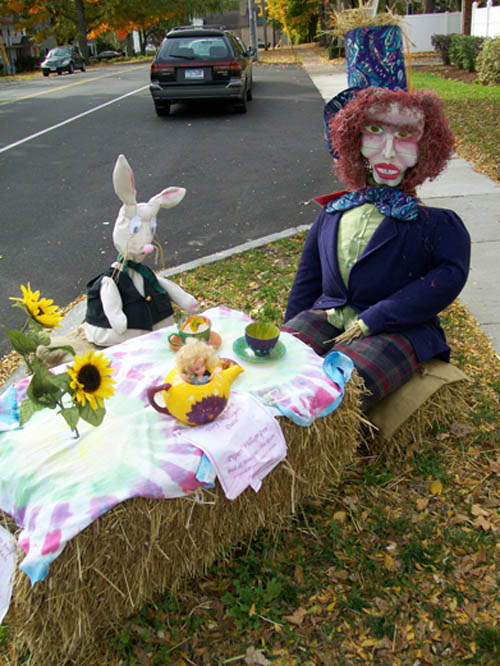 This `Mad Hatter` scarecrow, created by Jeannine Piper and Piper's Village Inn, took first place in the 2010 Scarecrow Expo. (photo by Joshua Maloni)