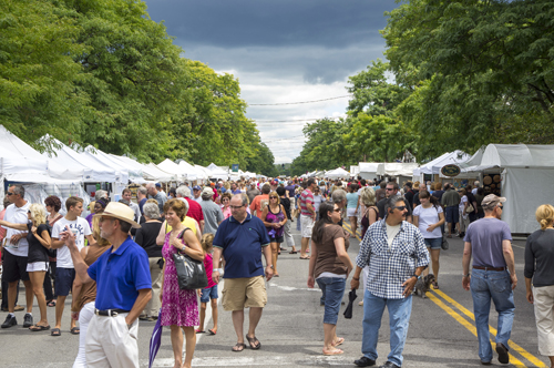 The 2012 Lewiston Art Festival. (photo by Wayne Peters)