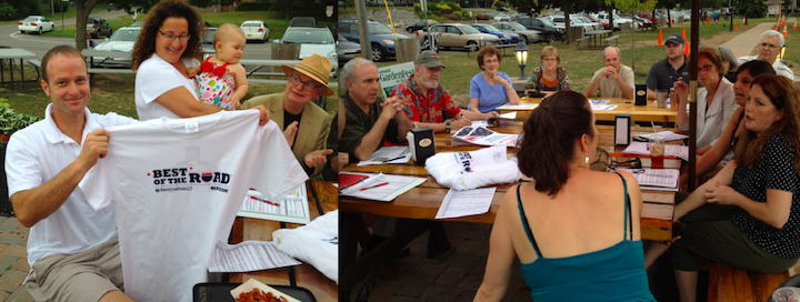 Volunteers gathered at The Silo on Monday to discuss plans to host the `Road Bros.` on Wednesday and Thursday.