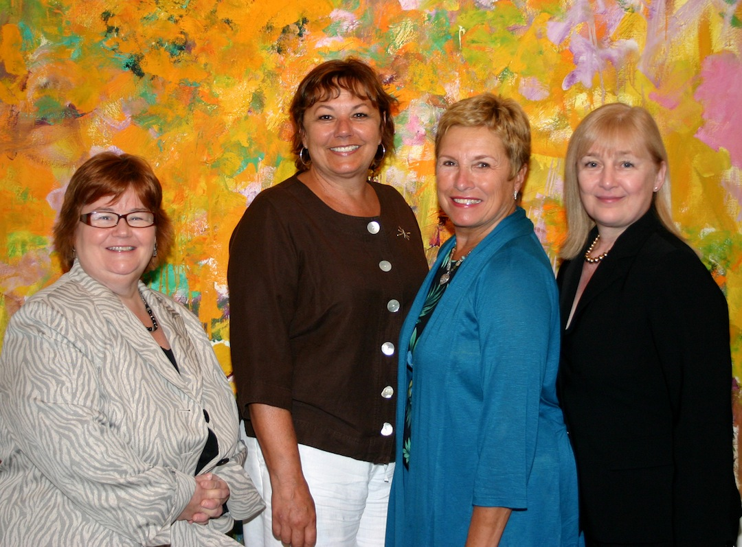 The new Cultural Alliance of Niagara officers are, left to right, Susan Clements, Irene Rykaszewski, Gay Molnar and Kate Koperski.