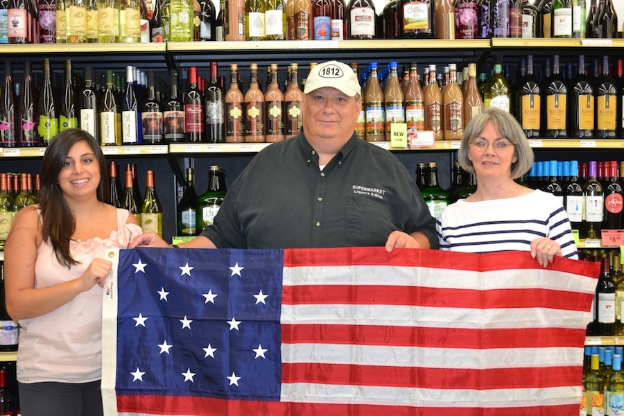 Chris Castellani, owner of Supermarket Liquors and Wines, recently contributed $1812 to the Historic Association of Lewiston. Castellani is pictured in the center of the photo. On the left is Lisa Ohanessian, member of the HAL board of directors. Pictured on the right is HAL Executive Director Pam Hauth.