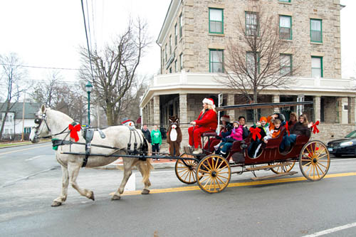 Horse-drawn carriage rides will again be a part of `Christmas in the Village.`