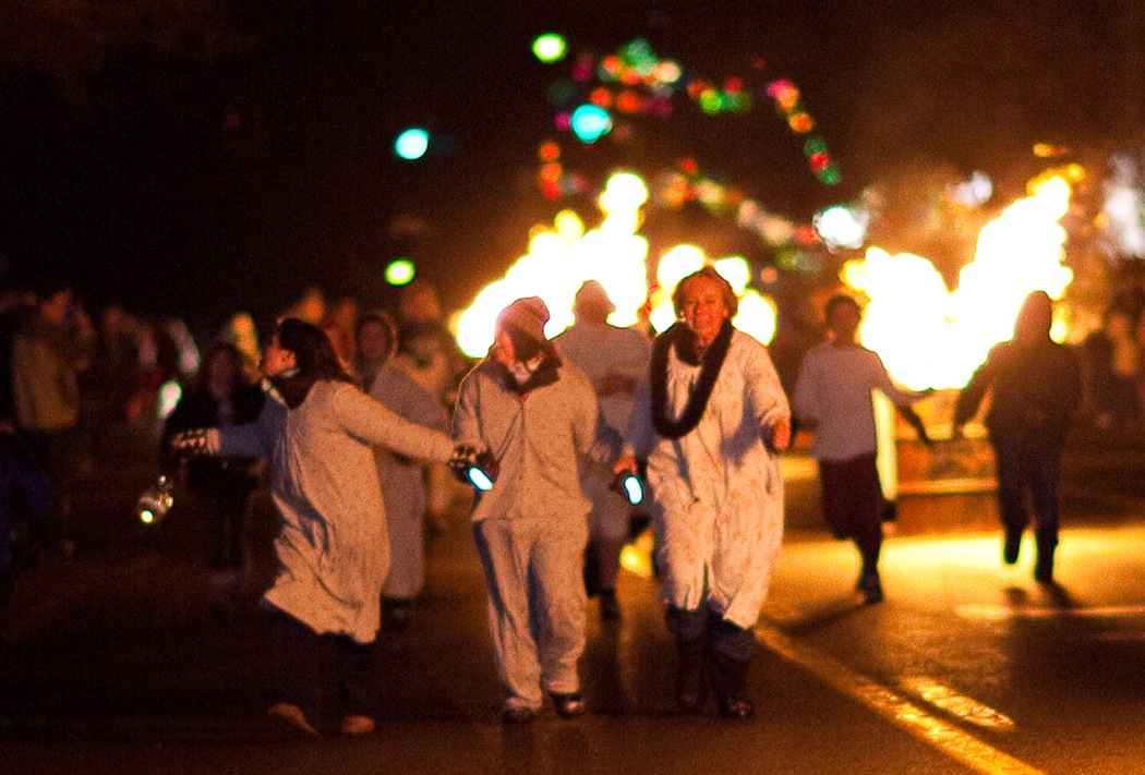 Pictured is a scene from last year's `Flames Through Lewiston.`