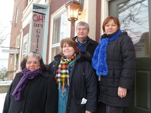 Pictured from left: Rosemary Hill, Karen Hodge Russell, Simon Brascoupe and Irene Rykaszewski.