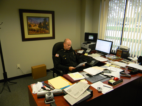 Lewiston Police Department Chief Chris Salada calls road patrols a `most important service.`